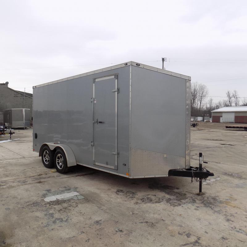 Used 2019 Qualitec 7' x 16' Enclosed Cargo Trailer For Sale