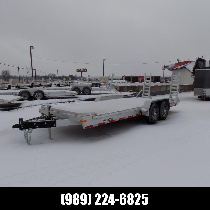 New Legend 7' x 20' Aluminum Equipment Trailer W/ 7K Axles - $0 Down Payment from $113/mo. W.A.C - Best Deal Guarantee