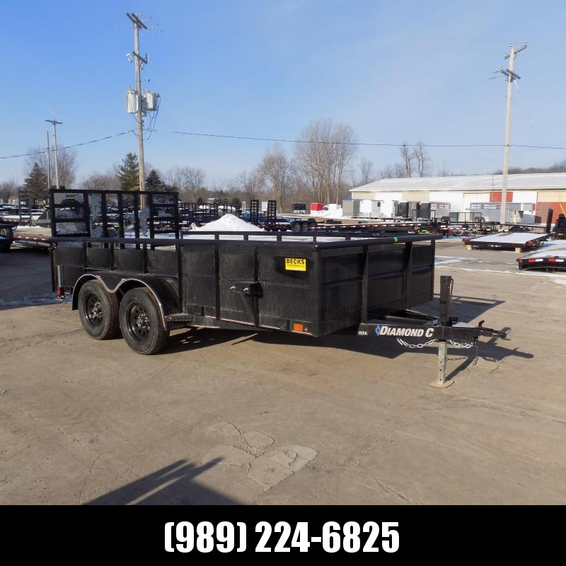 "New Diamond C 83"" x 14' High Side Utility Trailer - $0 Down & Payments From $103/mo. W.A.C. - Best Deal Guarantee!"