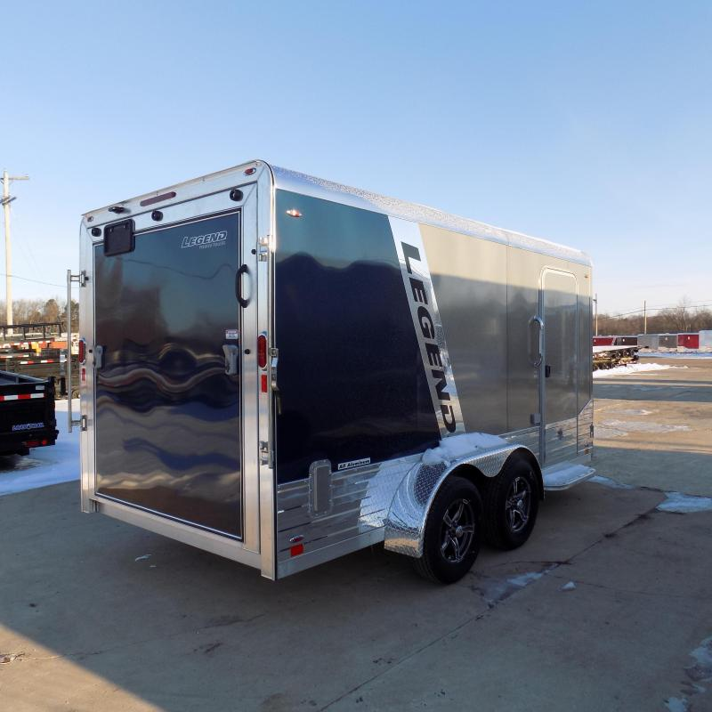 New Legend Deluxe V Nose 7' X 17' Enclosed Cargo Trailer For Sale - $0 Down Payments form $120/mo. W.A.C.