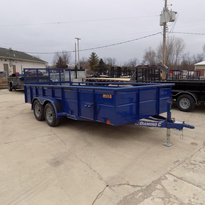 """New Diamond C 83"""" x 16' High Side Utility Trailer - $0 Down & Payments From $103/mo. W.A.C. - Best Deal Guarantee!"""