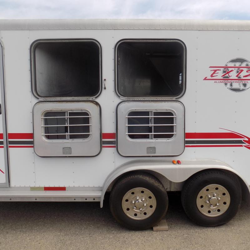 Used Exiss Trailers 2 Horse Slant Load Horse Trailer - All Aluminum & Very Clean!