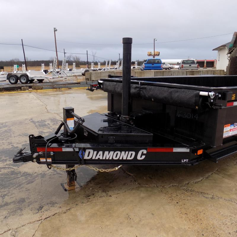 "New Diamond C Trailers 82"" x 16' Low Profile Dump W/ Telescopic Lift - Payments from $145/mo. with $0 Down W.A.C."