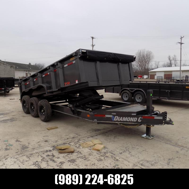 "New Diamond C 82"" x 16' Low Pro Dump Trailer - 19,500 lb Payload Capacity! - Payments From $154/mo. W.A.C."