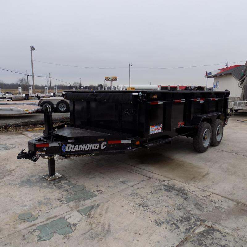 """New Diamond C 82"""" x 14' Low Profile Dump Trailer With 10K Torsion Axles & Hydraulic Jack - $0 Down Fianancing Available"""