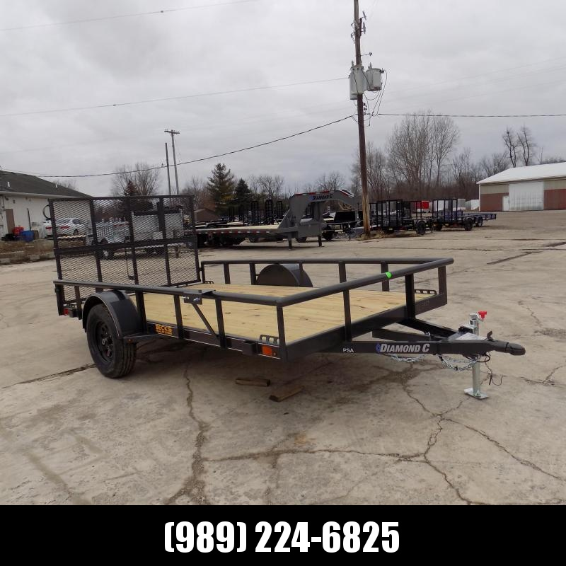 "New Diamond C 77"" x 12' Utility Trailer With Bi-Fold Rear Gate - $0 Down Financing Available - Best Deal Guarantee"