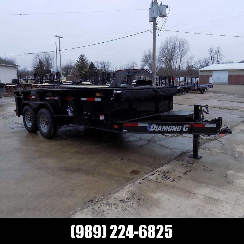 "New Diamond C 82"" x 14' Low Profile Dump Trailer For Sale - $0 Down & Payments from $129/mo. W.A.C."