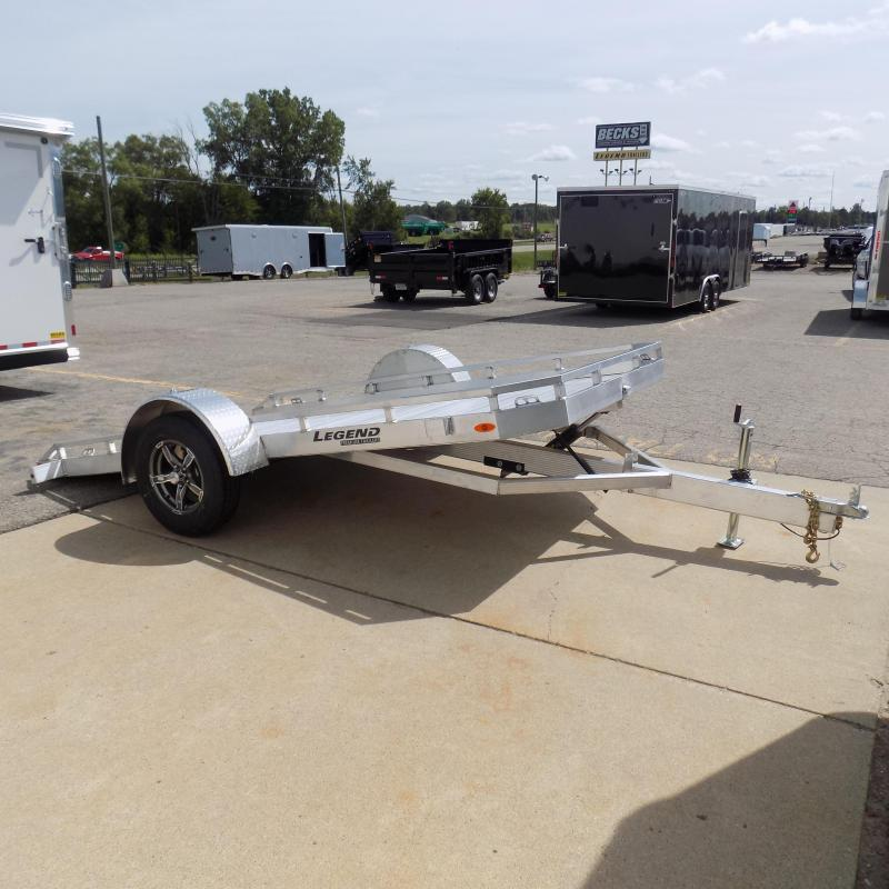 All New Legend 7' x 12' Aluminum Tilt Deck Trailer - Perfect for UTVs Motorcycles Golf Carts Mowers Etc.