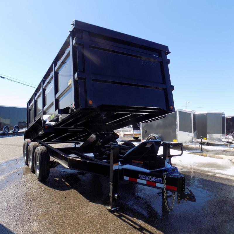 """New Load Trail 83"""" X 16' Triple Axle Dump Trailer with 48"""" Sides"""