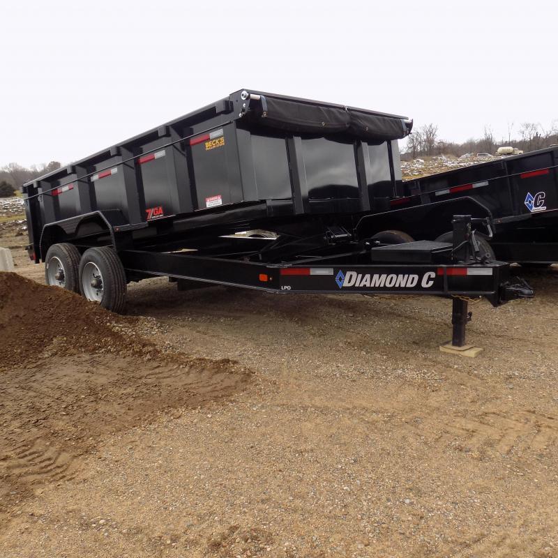 "New Diamond C 82"" x 14' Low Profile Dump Trailer With 10K Torsion Axles"