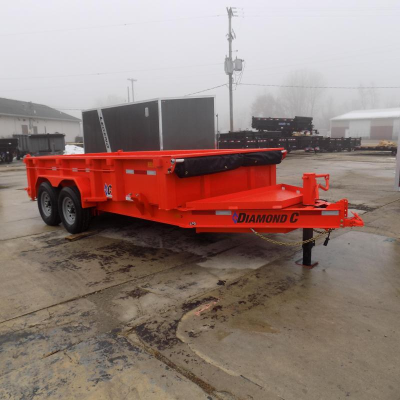 "New Diamond C 82"" x 14' Low Profile Dump Trailer For Sale - $0 Down & Payments from $145/mo. W.A.C."
