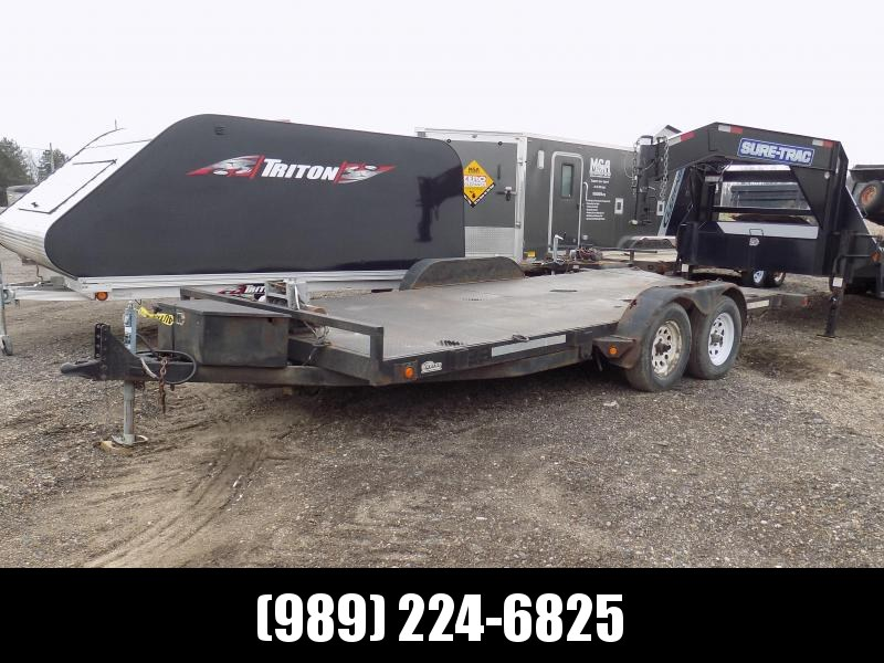 """Used 83"""" x 18' Car Hauler With 7K Axles"""