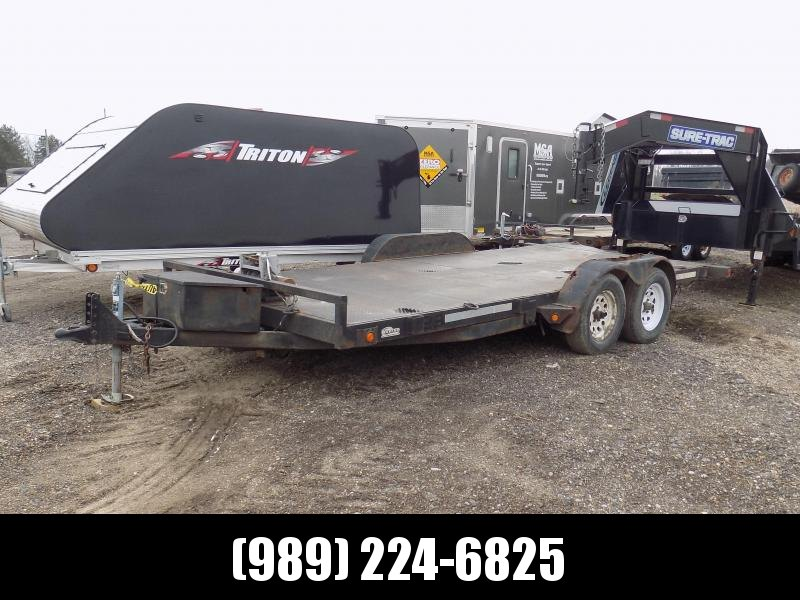 "Used 83"" x 18' Car Hauler With 7K Axles"