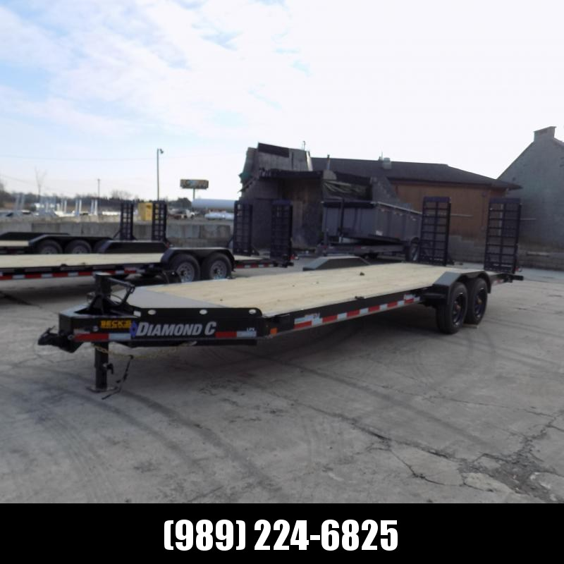 "New Diamond C Trailers 82"" x 24' Heavy Duty Equipment Trailer - 10K Axles - $0 Down & Payments from $139/mo. W.A.C."