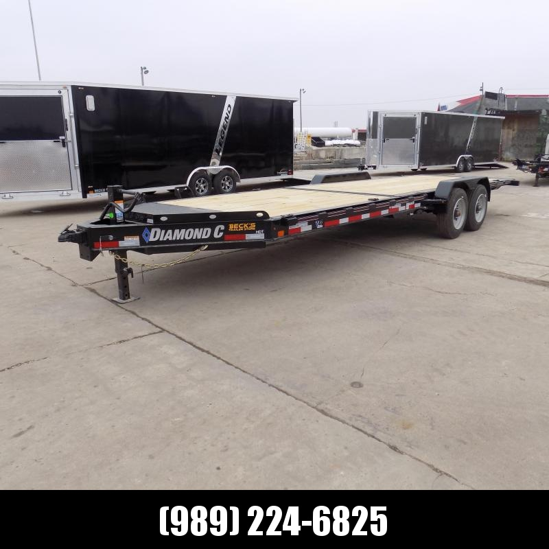 """New Diamond C Trailers 82"""" x 24' Heavy-Duty Tilt Deck Equipment Trailer - 10K Torsion Axles - $0 Down & Payments from $159/mo. W.A.C."""