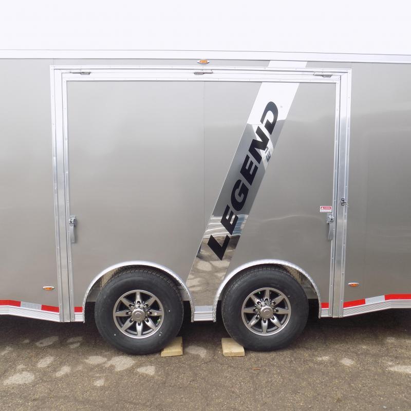 New Legend Trailmaster 8.5' x 28' Aluminum Race Series Trailer w/ Escape Door & Removable Fender