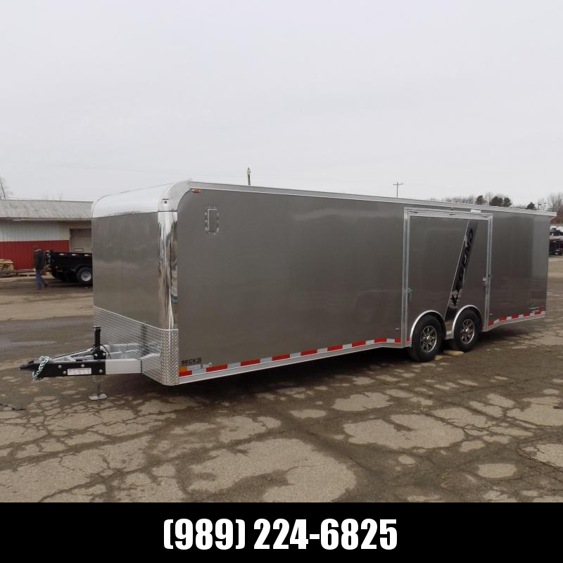 New Legend Trailmaster 8.5' x 28' Aluminum Race Series Trailer w/ Escape Door & Removable Fender