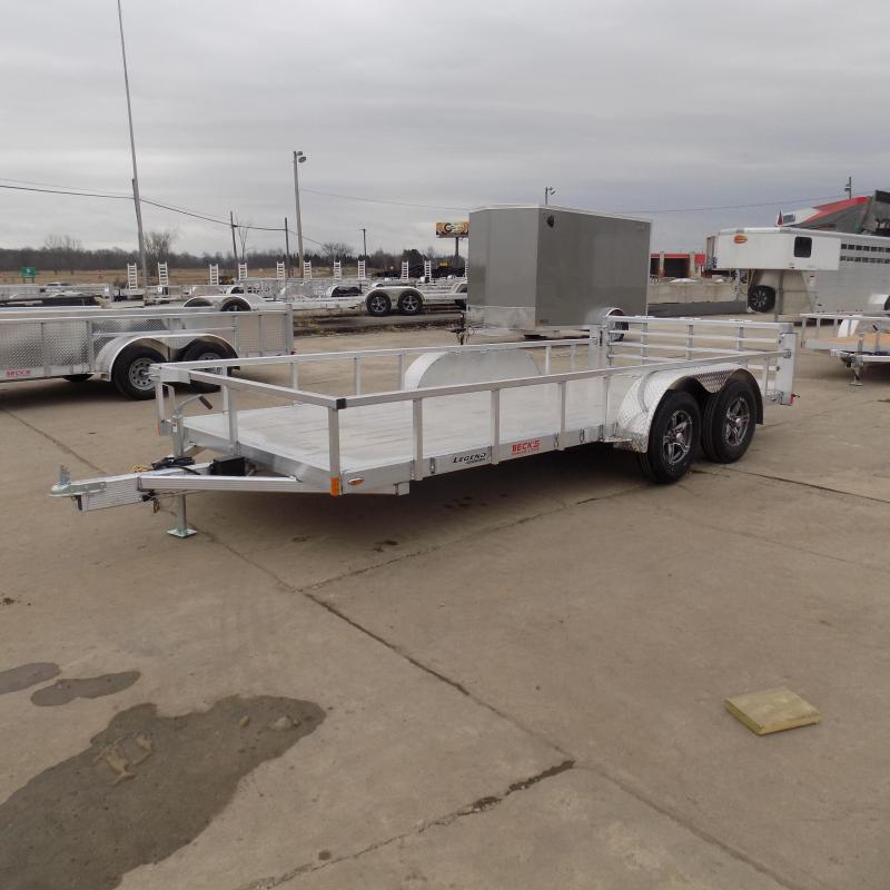New Legend Open Deluxe 7' x 16' Aluminum Utility  - $0 Down & Payments From $109/mo. W.A.C.