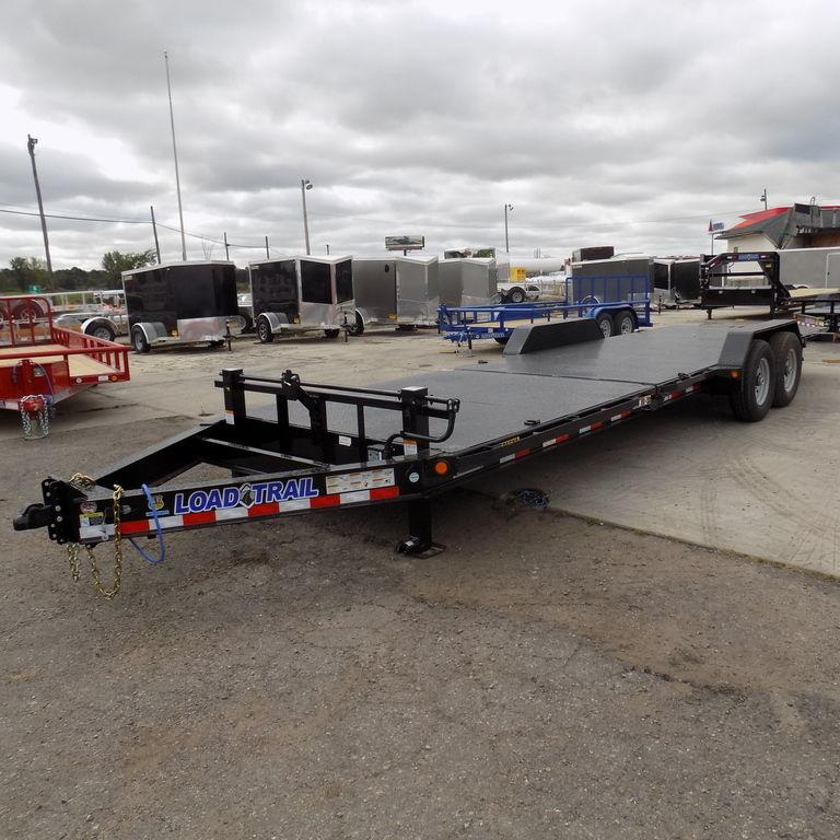 "New Load Trail TH14 83"" x 24' Tilt Deck Trailer with Steel Deck"