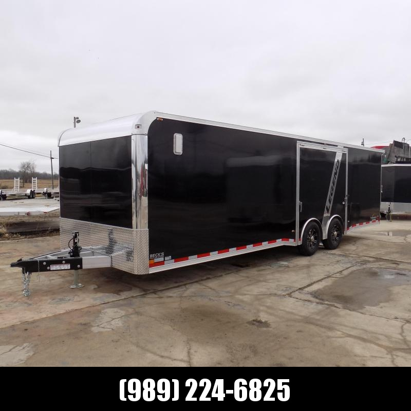 New Legend Trailmaster 8.5' x 28' Aluminum Race Series Trailer w/ Escape Door & Removable Fender - $0 Down Financing Available!