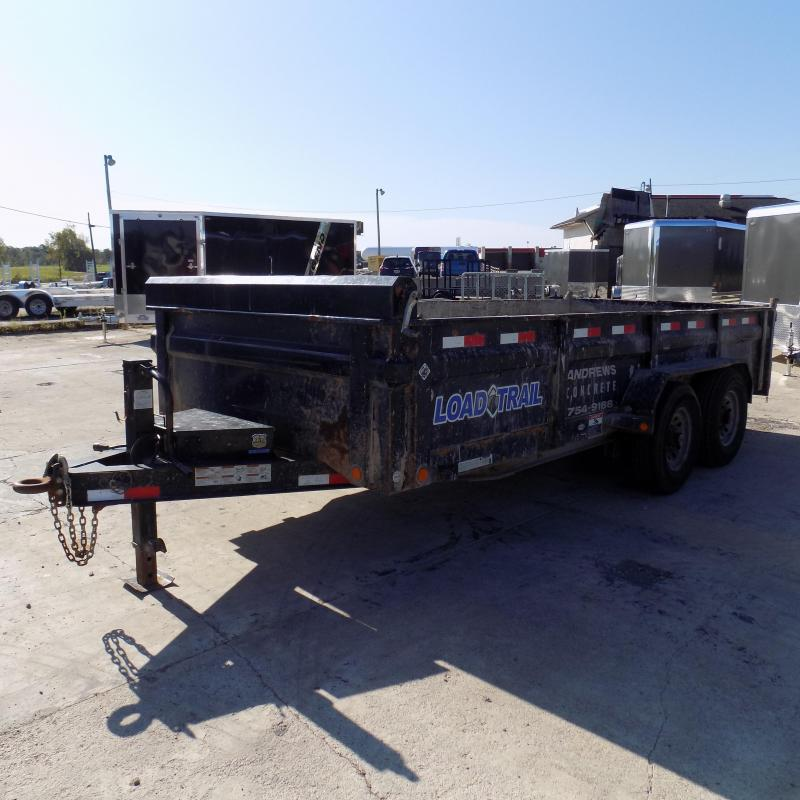 "Used Load Trail 83"" x 16' Dump Trailer For Sale"