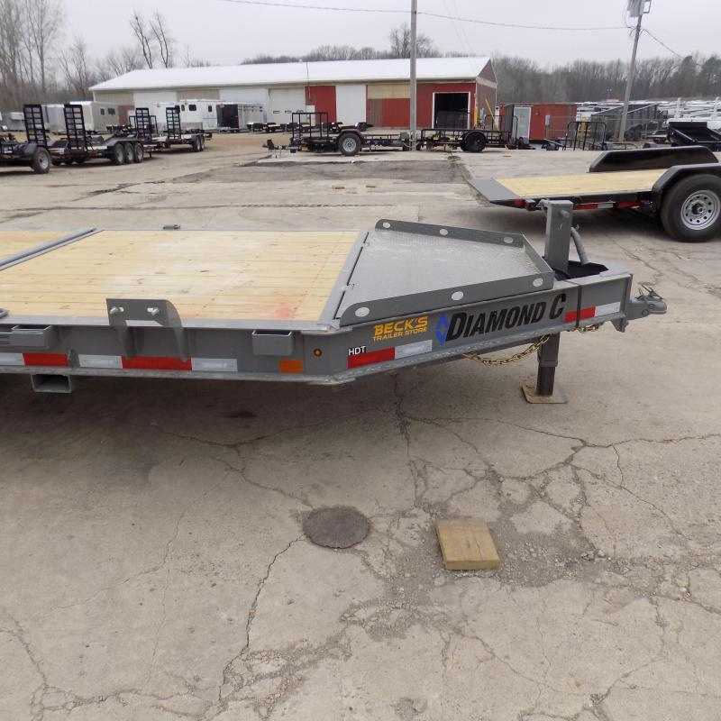 """New Diamond C Trailers 82"""" x 22' Heavy-Duty Tilt Deck Equipment Trailer - 10K Torsion Axles - $0 Down & Payments from $159/mo. W.A.C."""
