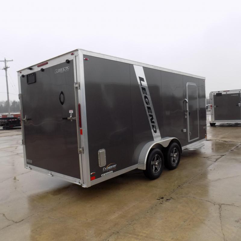 New Legend Explorer 7.5' x 23' Snowmobile Trailer - New 7.5' Wide Model Has NO Interior Wheel Wells! Flexible Financing Options Available