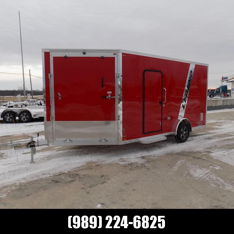 New Legend Explorer 7.5' x 19' Snowmobile Trailer - New 7.5' Wide Model Has NO Interior Wheel Wells! Flexible Financing Options Available