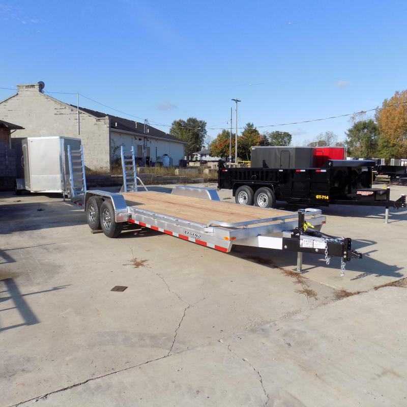 New Legend 7' x 22' Aluminum Equipment Trailer For Sale - Payment from $144/mo. with $0 Down W.A.C.