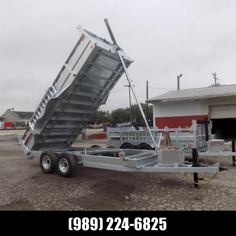 "New Galvanized 80"" x 16' Dump Trailer with 24K Telescopic Lift - $0 Down & Payments from $159/mo. W.A.C."