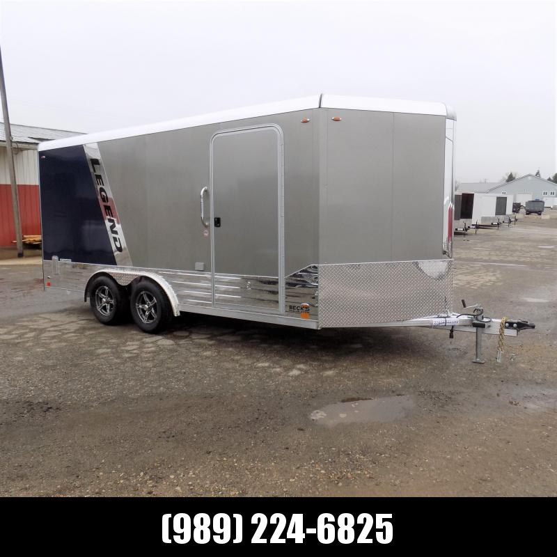 New Legend Deluxe V-Nose 8' x 19' Aluminum Enclosed Cargo Trailer - $0 Down & $144/mo. W.A.C.