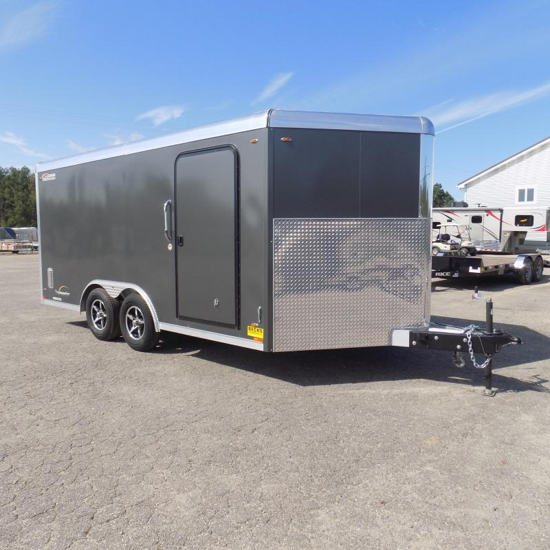 Used Just Once! Used Legend Trailmaster 8.5' x 16' Aluminum Enclosed Trailer w/ Wall Mounted E-Track