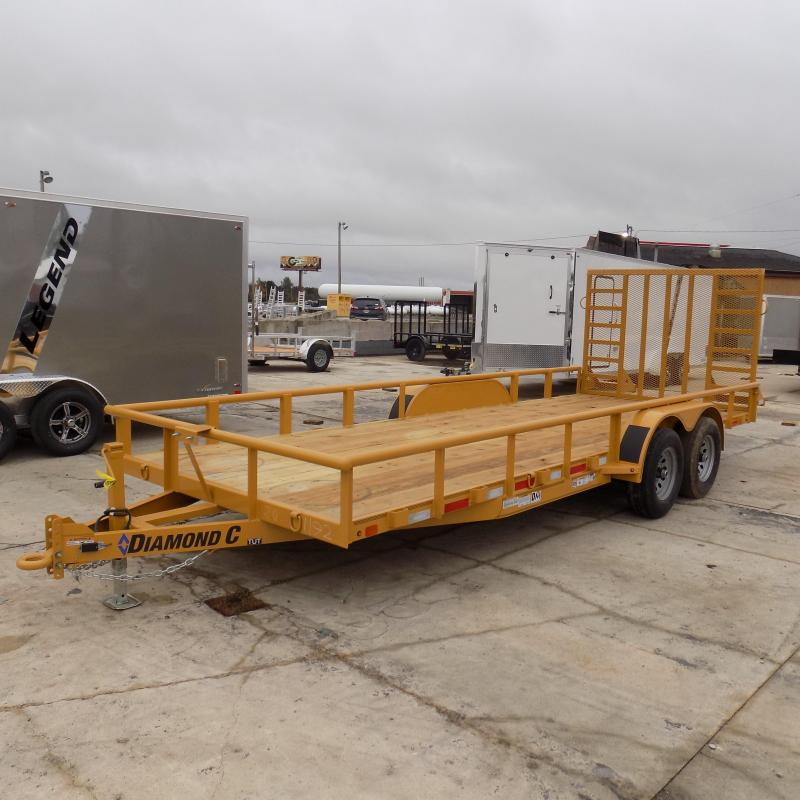 "New Diamond C Trailers 82"" x 20"" Heavy-Duty Utility Trailer w/ 5200# Axles - $0 Down & $119/mo. W.A.C."