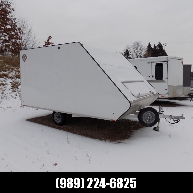 Used 2018 Sport Haven 8.5' x 13' 2-Place Hybrid Snowmobile Trailer For Sale