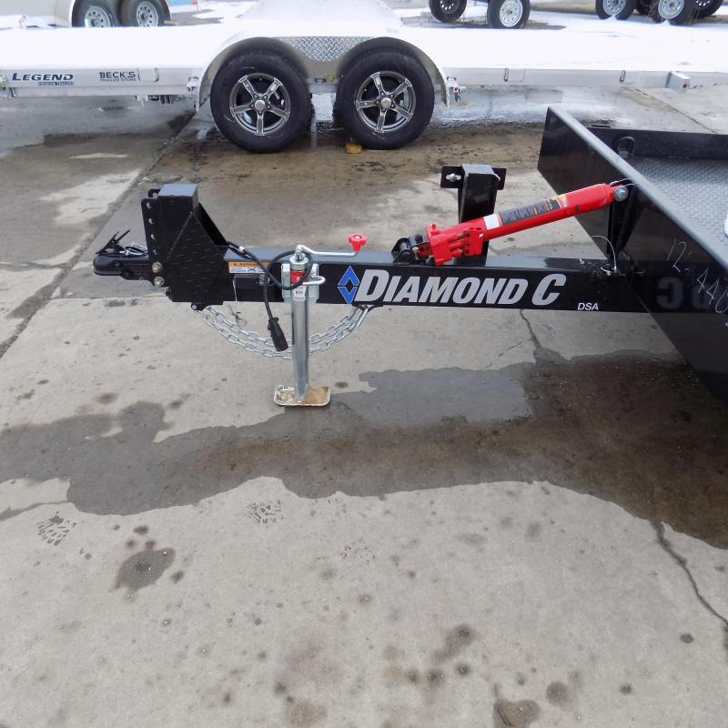 "New Diamond C Trailers 77"" x 12' Scissor Lift Tilt Deck Trailer For Sale"