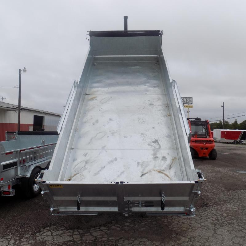 "New Galvanized 80"" x 16' Dump Trailer with 24K Telescopic Lift"