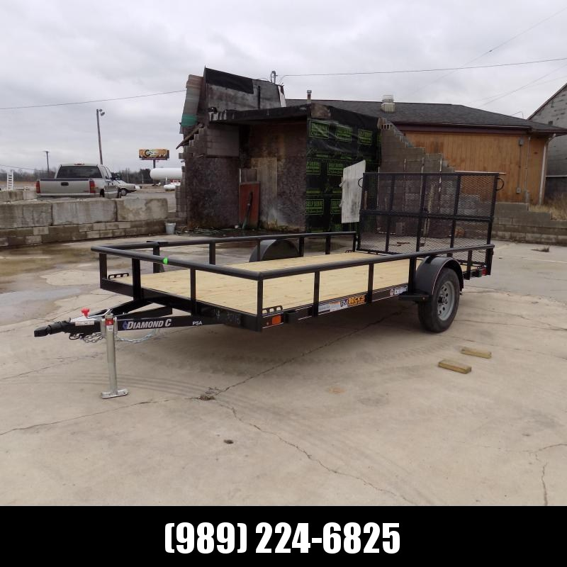 "New Diamond C 83"" x 14' Utility Trailer With Bi-Fold Rear Gate"