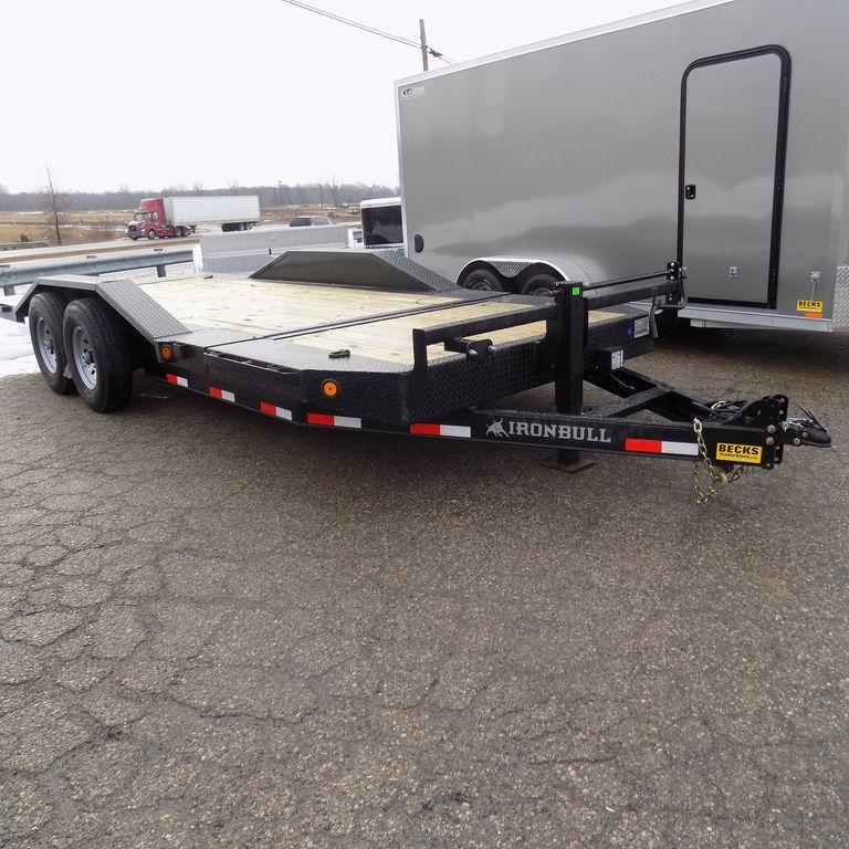 """New Iron Bull 102"""" x 22' Tilt Deck Trailer - 8K Axles"""