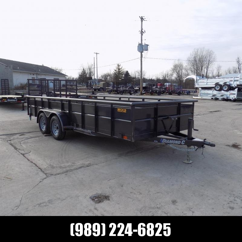 """New Diamond C 83"""" x 18' High Side Utility Trailer - $0 Down & Payments From $105/mo. W.A.C. - Best Deal Guarantee!"""