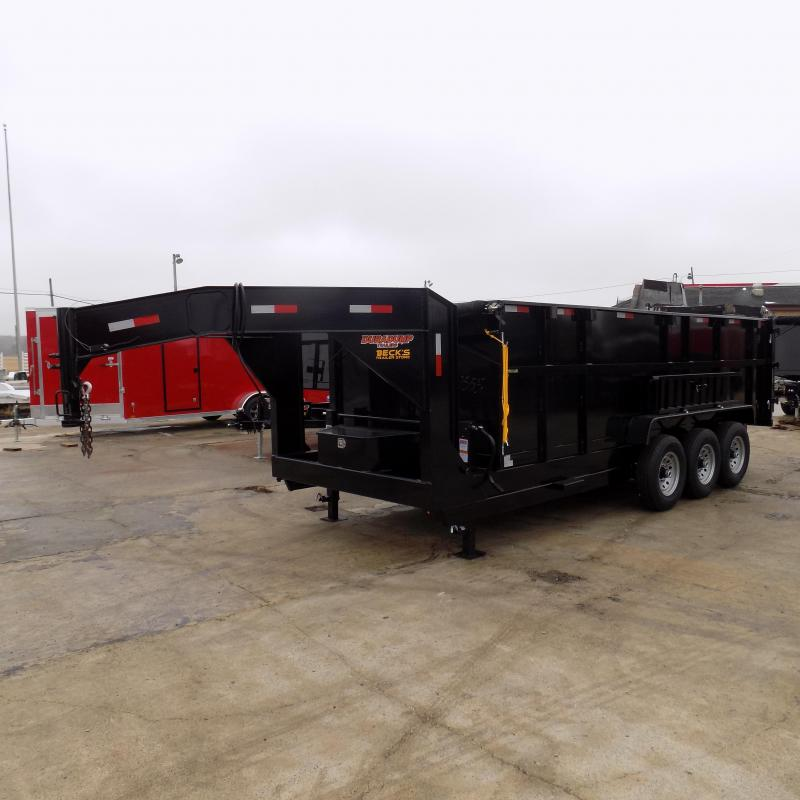 "New DuraDump 7' x 18' Triple Gooseneck Dump Trailer With 48"" Sides - $0 Down & Payments From $189/mo. W.A.C."