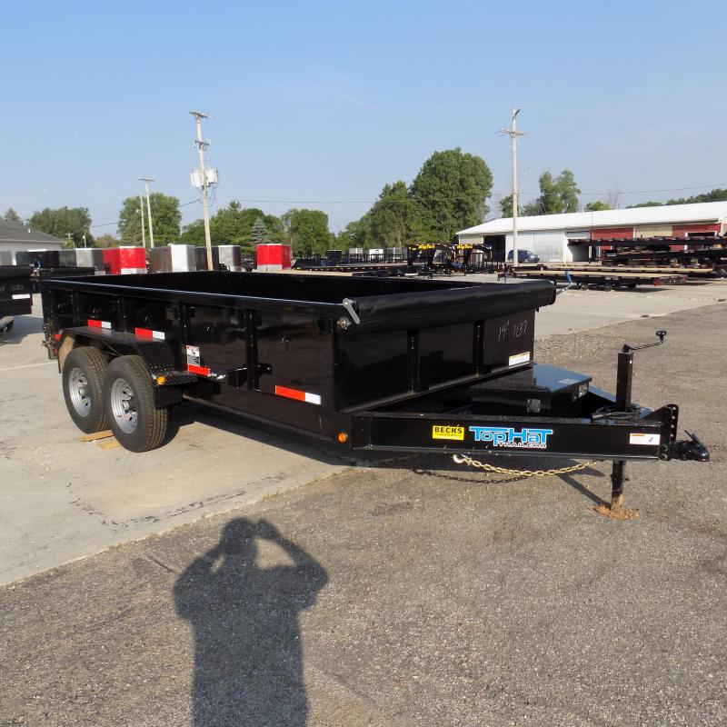 """New Top Hat Trailers 83"""" x 14' Low Pro Dump Trailer For Sale"""