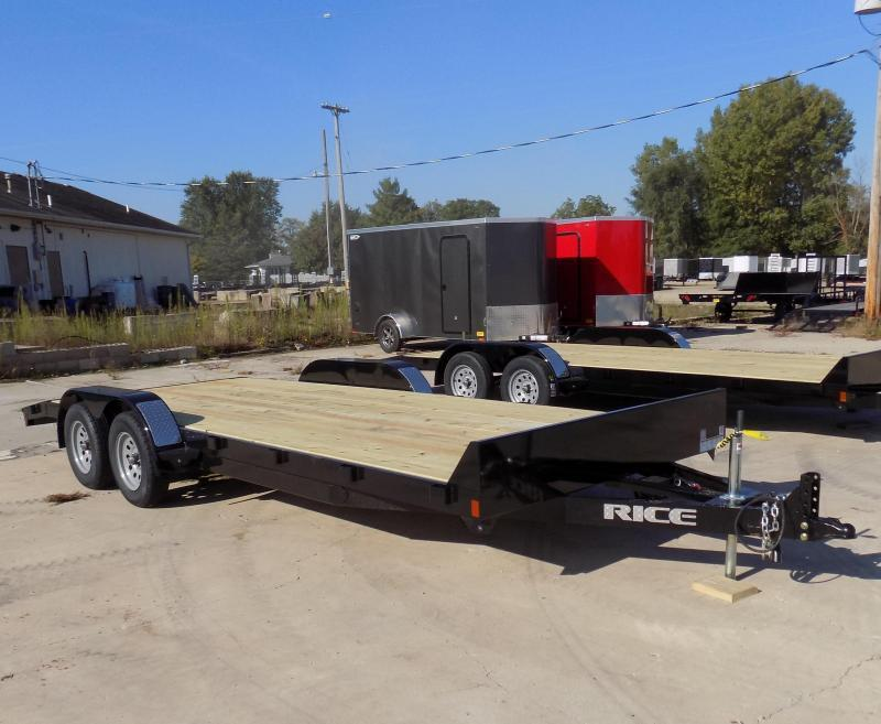 "New Rice Trailers 82"" x 20' Open Car Hauler - Payments From $75/mo. W.A.C. - Best Deal Guarantee"
