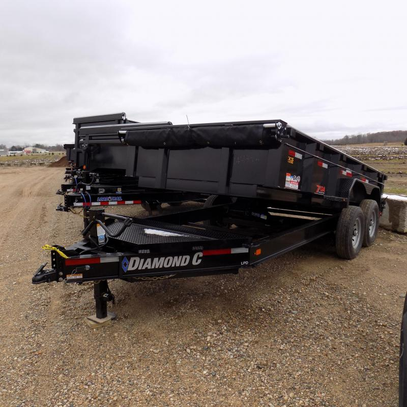 """New Diamond C 82"""" x 14' Low Profile Dump Trailer For Sale - $0 Down & Payments from $148/mo. W.A.C."""