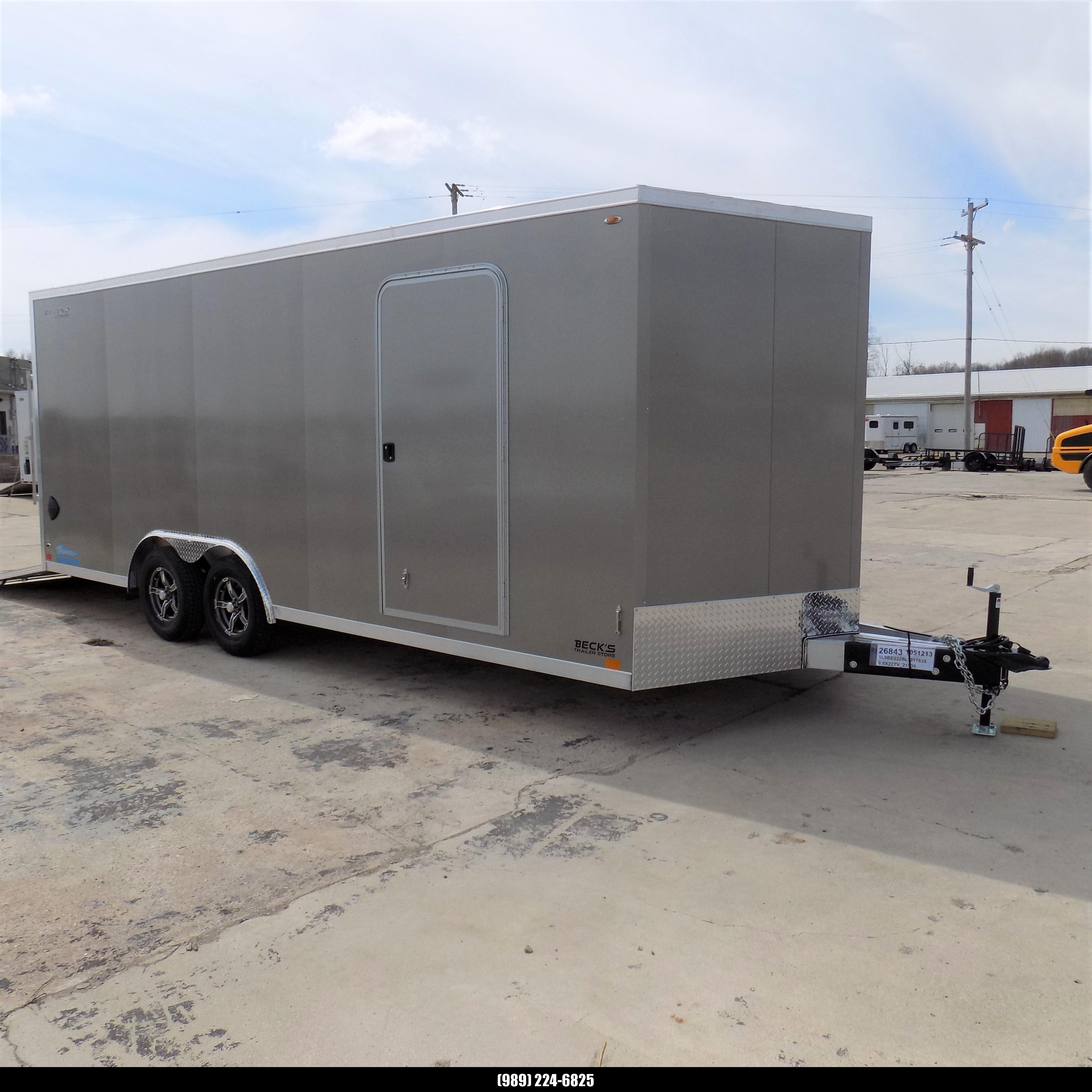 New Legend Thunder 8.5' X 22' All Aluminum Enclosed Cargo Trailer-$0 Down Payments From $123/mo W.A.C.