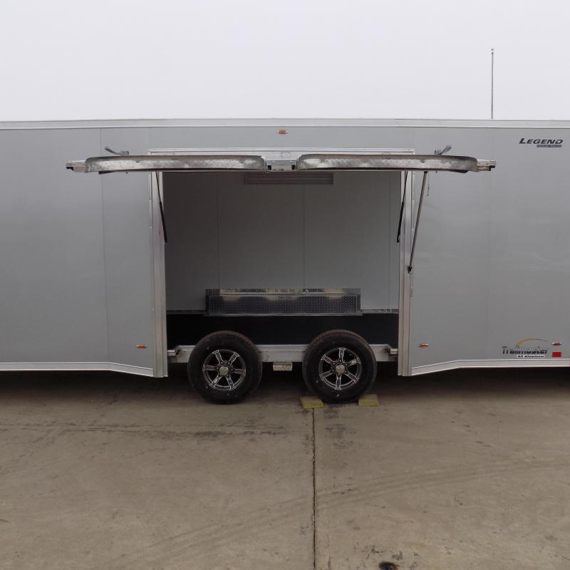New Legend Trailmaster 8.5' x 24' Aluminum Race Series Trailer w/ Escape Door & Removable Fender