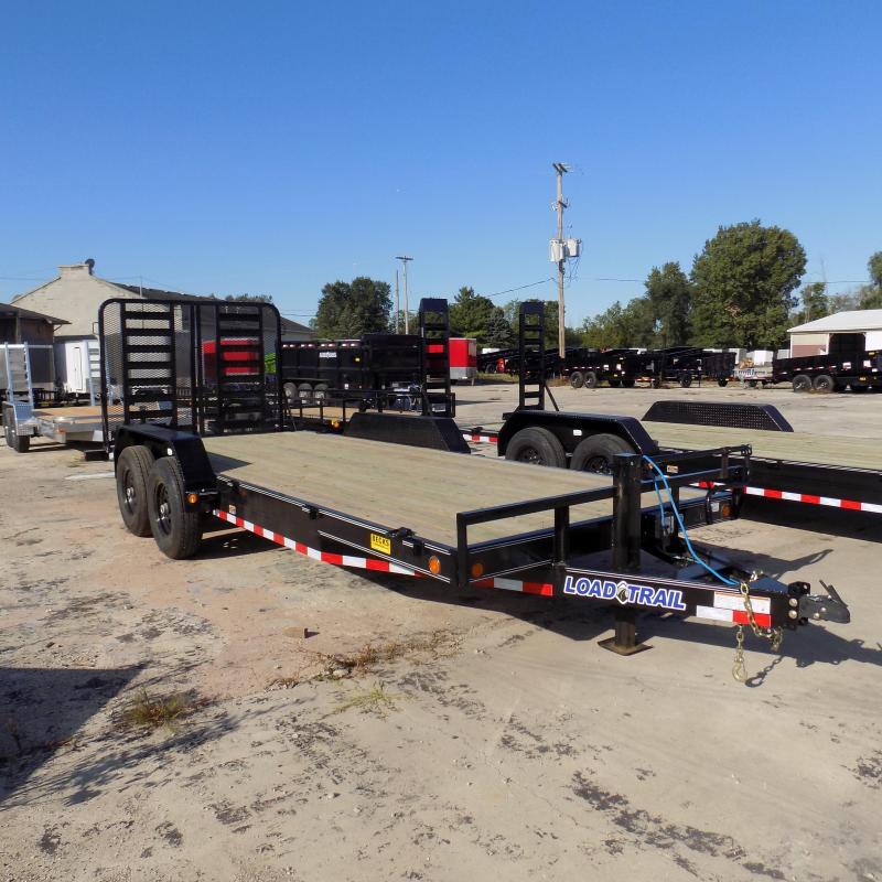 """New Load Trail 83"""" x 20' Car/Equipment Trailer w/ 7K Axles"""