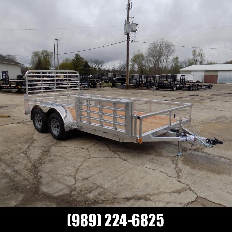 New Legend Open Deluxe 7' x 14' Aluminum Utility - $0 Down & Payments From $89/mo. W.A.C.