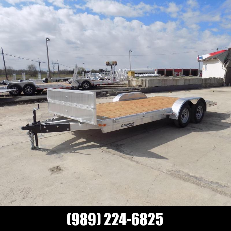 New Legend 7' x 18' Aluminum Open Car Hauler - $0 Down Financing Available