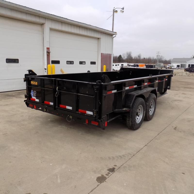 "New Diamond C 82"" x 16' Low Profile Dump Trailer For Sale - $0 Down & Payments from $144/mo. W.A.C."