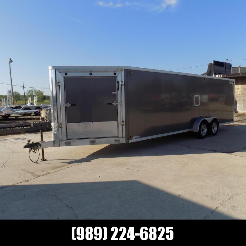 Used Legend Trailmaster 7' x 27' Snowmobile Trailer For Sale - All Aluminum Construction